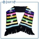 Fashion Stripes Jacquard Acrylic Knit Scarf for Woman
