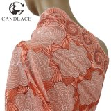 China Supplier Peach Color Swiss Voile Lace for Wedding Dress