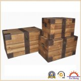 3-PC Decorative Rustic Brown Natural Wood Trunk