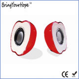 2.0 PC Speaker with USB Power in Apple Shape (XH-PS-107)