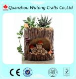 Tree Hole Cartoon Aminal Resin Flower Pots Outdoor Plant Pots