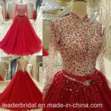 Beading Bridal Dress Red Tulle Prom Party Evening Dress M46