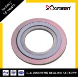 Ss304 Inner Ring CS Outer Ring PTFE Filler Spiral Wound Gasket with ASME16.20 Standard
