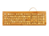 Handcrafted Lastst Design Bamboo USB/PS2 Computer Keyboard