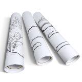 Self Adhesive Cartoon Animal Drawing Paper Roll Stick on Wall