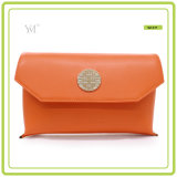 New Fashion Best Price Cosmetic Clutch Bag with Metal Plate