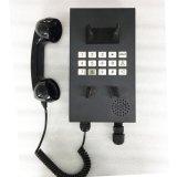 Black Waterproof Explosion Proof Mining Telephone Hands Free Loudspeaker Telephone