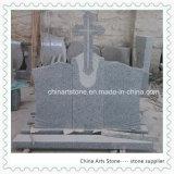 Cross and Book Nature Stone Granite Monument