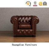Wholesale Furniture China Living Room Tufted Leather Chesterfield Sofa (HD550)