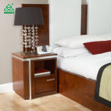 Modern Hotel Wooden Nightstand, Small Nightstand with Drawers