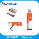 USB Stick 2.0 3.0 Full Capacity Swivel Flash Disk Pendrive Custom Twister USB Flash Drive