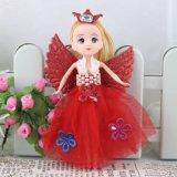 18cm Girl Full Dress Braid Dolly Girl Keychain Doll Cake Decoration Gift