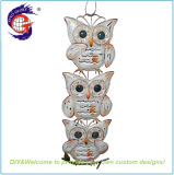 Factory Wholesale Metal Owl Wall Hanging Craft for Home