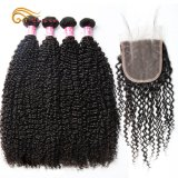 Brazilian Virgin Hair Kinky Curly Wave with Lace Closure Hair From Onicca