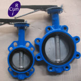 SS304 Food Class Stainless Steel Weld Clamp Thread Butterfly Valve