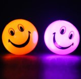 Plastic LED Smile Ball LED Flashing Light up Bouncing Ball Toys for Kids