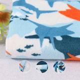 Soft Printed Knitted Home Textile Polyester Feelce Velvet Velour Baby Blanket Fabric