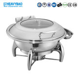 Heavybao High Quality Buffet Tools Stainless Steel Induction Food Warmers Round Chafing Dish