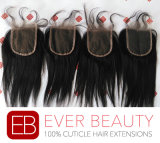 """4""""X4"""" Virgin Indian Remy Human Hair Lace Closure"""