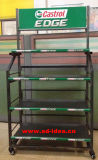 Engine Oil Flooring Metal Display Stand
