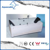 Rectangle ABS Board Whirlpool Bathtub in White (AB0812)