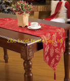 All Polyester Jacquard Dyed Pointy Spike Tablecloth