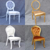 Gold and White Stackable Dubai Price Aluminium Acrylic Banquet Chair for Wedding and Hotel (YC-D89)