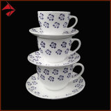 Porcelain Ceramic Tea Cup Saucer Coffee Cup Set for Latte