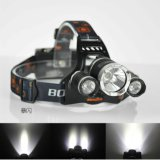 Boruit 5000lm Camping Hunting 18650 Rechargeable 3 T6 LED Headlamp