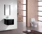 Modern MDF Bathroom Furniture with Glass Basin and Mirror
