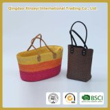 Unique Stylish Straw Weave Tote Lady Backpack Bag Price