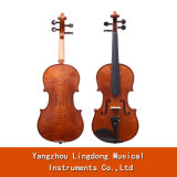 4/4 Full Size Solidwood Violin Maple Ebony Fingerboard Pegs with High Quality Rosin Bow Violin
