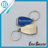 Custom Silver House Shape Couple Metal Key Chain