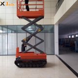 4m 6m 8m 10m Hydraulic Mobile Electric Battery Power Rough Terrain Automatic Scissor Lifts on Track with Low Cpst