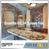 White/Grey Natural Polished Granite for Kitchen Countertop/Vanity Top