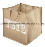 Fashion Promotional Custom Printed Kids Extra Large Jute Toy Storage Bags