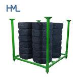 Warehouse Stacking Adjustable Folding Heavy Duty Metal Steel Pallet Storage Car Tire Racks