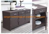Rolling Portable Wicker Kitchen Trolley Cart Dining Restaurant W/Shelves, Rattan Kitchen Cabinets