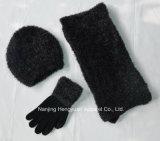 Custom Design Warm Beanie Winter Knitted Gloves Scarf Hats