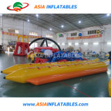 Heat-Seal 0.9mm PVC Inflatable Speed Banana Boat for Water Park