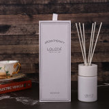 Decorative White Glass Bottle Reed Diffuser with Luxury Packaging