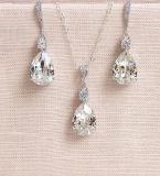 Pear Bridal CZ Necklace Jewelry Set, Wedding CZ Necklace Jewelry Set, Bridesmaid Necklace Set, Gift Necklace Set