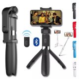 Bluetooth Selfie Stick for Phone Monopod Tripod Smartphone Stick Stand Pod Tripe Mount Clip