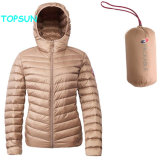 Women Packable Down Jacket with Hooded Ladies Lightweight Fashion Padded Puffer Outerwear Clothes
