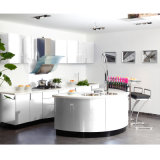 Welbom Baked Paint Kitchen Cabinet with Round Island
