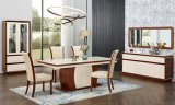 MDF Dining Room Glass Dining Table Set and Chair Tempered Glass Desk Modern Home Furniture
