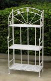 Anqique White Garden Plant Stand Display 3-Tiers Shelf Unit Shelves