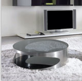 (CJ-1206A) Home Furniture Fashion Design Tempered Glass Coffee Table
