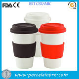 Wholesale Ceramic Coffee Travel Mug with Silicone Lid