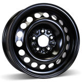 15X6 (5-100) Black Steel Wheel Rim